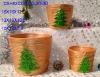 ceramic Christmas flower pot(ceramic pot,terracotta pot)