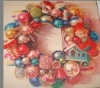 Wholesale 50cm artificial decorative plastic ball Christmas wreath
