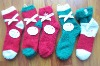 Wholesale christmas microfiber home socks