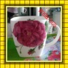 Wholesale Flower Ceramic Coffee Mug with Handle