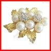 Wholesale Beautiful Bow Pearls Brooch Pin Great Gift
