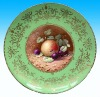 Wholesale Round porcelain fruit platter , ceramic fruit dish