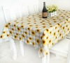 Wholesale Embossed Table Cloth with Flannel Backing