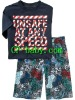 "2012 new model 100% cotton short sleeve children/baby/kid ""unsafe at any speed"" pajamas/sleepwear/homewear set"